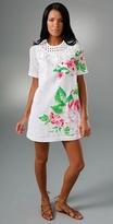 Karta Scoop Neck Dress with Woven Trim