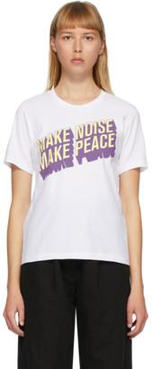 Undercover White Make Noise, Make Peace T-Shirt