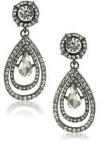 ABS by Allen Schwartz Set In Stone Crystal Double Teardrop Earrings
