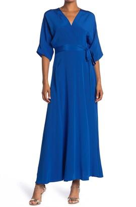 Diane von Furstenberg Eloise Silk Maxi Wrap Dress
