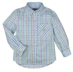 Andy & Evan Little Boys' Long Sleeve Checkered Shirt