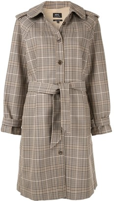 A.P.C. Ava checked trench coat