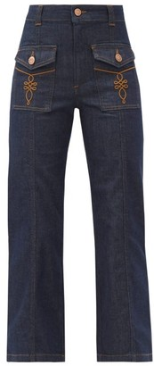 See by Chloe High-rise Flared Jeans - Indigo