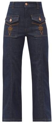 See by Chloe High-rise Flared-leg Jeans - Indigo