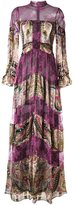 Etro striped paisley print lace dress