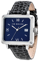 Ike Behar The Square Leather Watch, 37mm