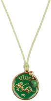 Blee Inara Green Enamel Horoscope Cord Necklace - Virgo