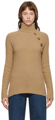 Balmain Beige Knit Turtleneck