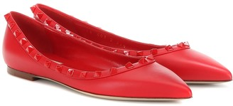 Valentino Rockstud leather ballet flats