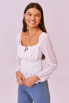 Finders Keepers LUCIETTI LONG SLEEVE TOP ivory