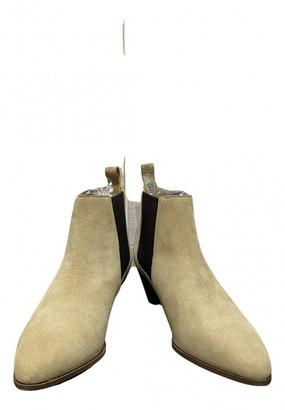 Le Bon Marché Le Bon Marche Beige Suede Ankle boots