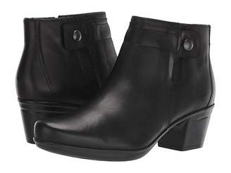 Clarks Emslie Jada (Black Leather) Women's Boots