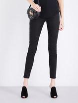 Balmain Button-detail skinny high-rise jeans