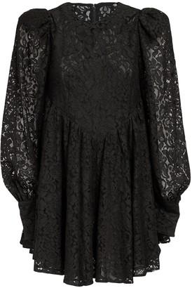 Rotate by Birger Christensen Alison Cotton Blend Lace Mini Dress