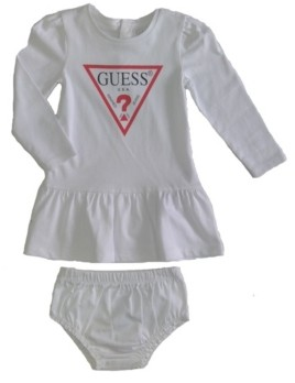 GUESS Girls Long Sleeve Classic Logo Dress