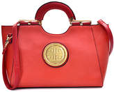 Dasein Red & Goldtone-Accent Satchel