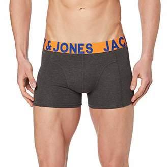 Jack and Jones NOS Men's Jaccrazy Solid Trunks Noos Boxer Shorts, Multicolour Dark Grey Melange, Small