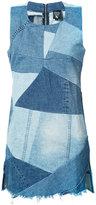 PRPS patchwork denim dress - women - Cotton - M