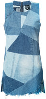 PRPS patchwork denim dress - women - Cotton - XS