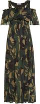 Sonia Rykiel Swallow camouflage-print crepe dress