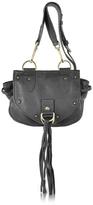 See by Chloe Collins Black Leather Crossbody Bag w/Tassels