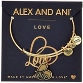 Alex and Ani Love IV Rafaelian Gold Charm Bracelet