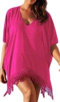 Laryana Women's V-neck Beach Cover Up Dress Beachwear Swimsuit Dress