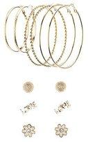 Charlotte Russe Love Hoop & Stud Earrings Set