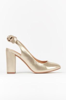 Wallis Gold Slingback Court Heel
