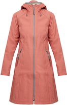 Ilse Jacobsen Rain37LB Pink Long Softshell Raincoat