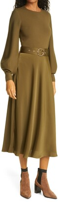 Ted Baker Gwenii Belted Long Sleeve Midi Dress