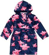 Ted Baker Girls' Navy Floral Print Hooded Dressing Gown
