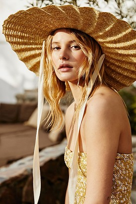 Lack Of Colour Scalloped Straw Hat