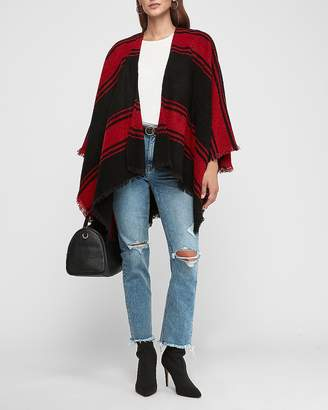 Express Red Poncho