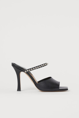 H&M Sparkly stone leather sandals
