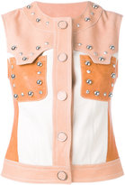Drome buttoned gilet - women - Lamb Skin/Acetate/Viscose - S