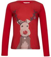 Yumi Embellished Reindeer Top Red