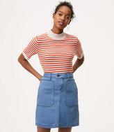 LOFT Denim Utility Skirt