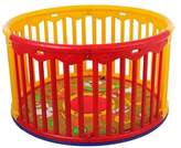 Dream On Me Circular Playard, Red/Yellow