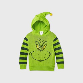 Dr. Seuss Toddler Boys' The Grinch Hooded Ugly Christmas Sweater -