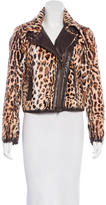 RED Valentino Leopard Print Shearling Jacket