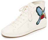 Joie Day Embroidered High Top Sneakers