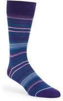 Bugatchi Men's 'Alternating Thin Stripe' Socks