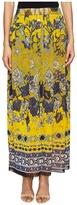 Fuzzi Long Front Button Skirt in Batic Print Women's Skirt