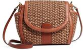Brooks Brothers Natural Straw Crossbody Bag