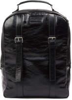 Saint Laurent Scott Black Backpack In Vintage Leather