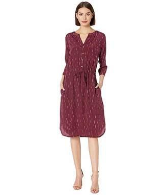 Pendleton Drawstring Waist Silk Dress