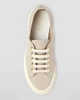 Superga Low-Top Faille Lace-Up Sneaker, Truffle Nude
