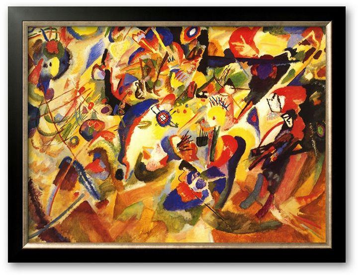 "STUDY Art.com for Komposition VII"" Framed Art Print by Wassily Kandinsky"