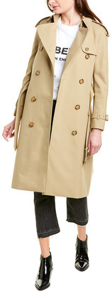 Burberry Archive-Print Lined Gabardine Trench Coat